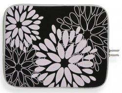 Modne Etui na Tablet 12 wzór w kwiaty Czarne