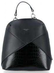 Modne Plecaczki Damskie z motywem aligatora firmy David Jones Czarny