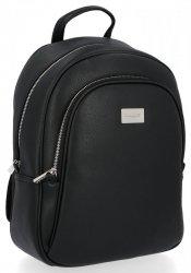 Solidny Plecak Damski XL do noszenia na co dzień firmy David Jones Czarny