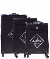 Super Lekkie walizki david jones Zestaw 3w 1 Czarne