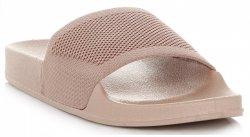 b967c70d02ba9e Uniwersalne Klapki Damskie firmy Ideal Shoes Beżowe