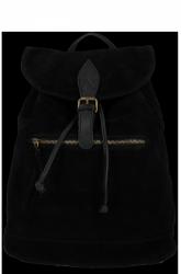 Ženský kožený batoh Vittoria Gotti vyrobený v čiernej farbe v Taliansku