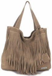 Univerzálna Kožená taška Vittoria Gotti XL v boho štýle