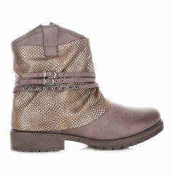 Dámske zemité členkové topánky