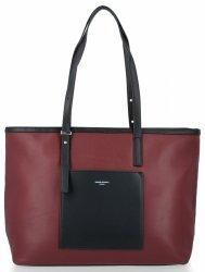 Univerzálne a klasické dámske tašky vo veľkosti XL od David Jones maroon