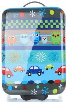 Módní Palubní kufřík s motivem sovy Snowball multicolor - modrá