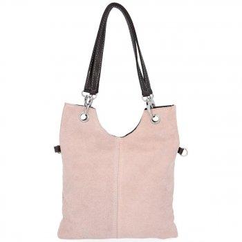 Kožené kabelky listonošky Prášková Růžová