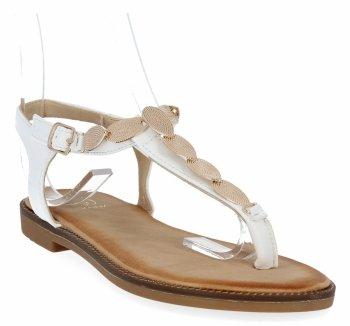Bílé módní dámské sandály Givana
