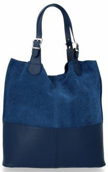 Kožená kabelka exkluzivní Shopper bag Jeans