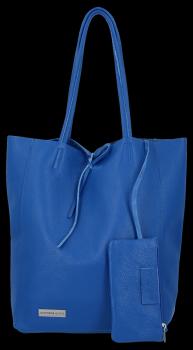 Kožené kabelky VITTORIA GOTTI Shopper bag Kobaltová