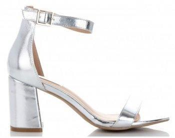 Elegantní Dámské Sandály na podpatku Bellucci Stříbrné