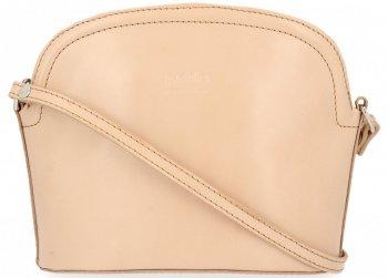 klasické kožené kabelky listonošky Béžová