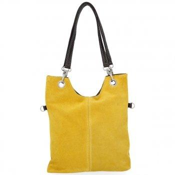 Kožené kabelky listonošky Žlutá