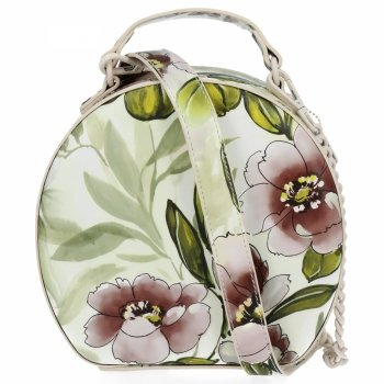 Módní Kabelky Listonošky květinový vzor Diana&Co Béžová