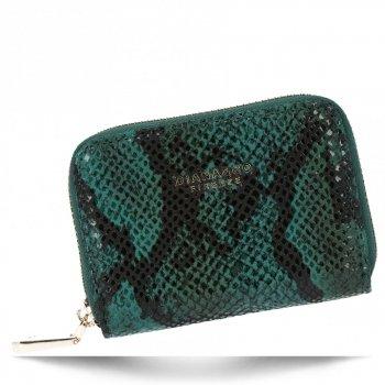 Exkluzivní Dámská Malá Peněženka hadí vzor Diana&Co Zelená