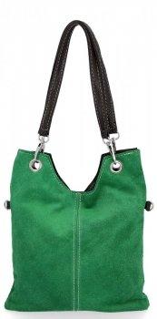 Kožené kabelky listonošky Dračí zelená