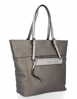 Univerzální Dámské Kabelky David Jones Shopper Bag Tmavě Stříbrná