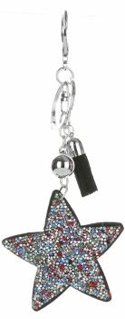 Přívěšek ke kabelce hvězda vícebarevné krystalky Multikolor