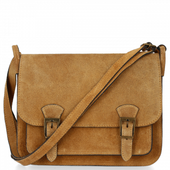 kožená kabelka listonoška Genuine Leather Zrzavá