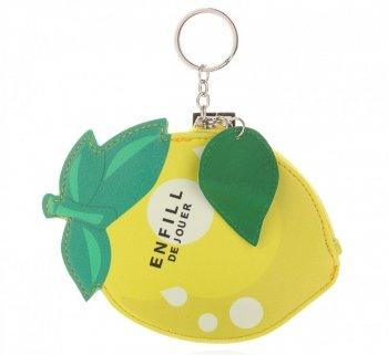 Přívěšek na klíče ke kabelce Citron žlutý
