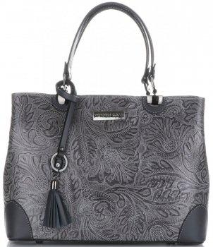 Elegantní kožený kufřík Vittoria Gotti šedý