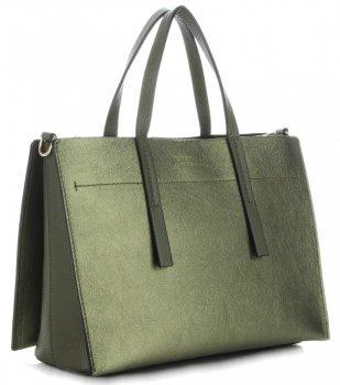 Klasické Kožené Kabelky Vittoria Gotti Zelená