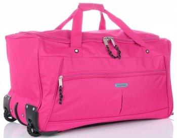 Cestovní taška na kolečkách s teleskopickou rukojetí renomované XL firmy Madisson růžová