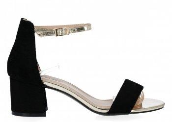 Černé dámské sandály na podpatku Lady Glory