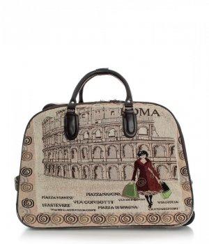 STŘEDNÍ cestovní taška kufřík Or&Mi ROMA Multicolor - béžová