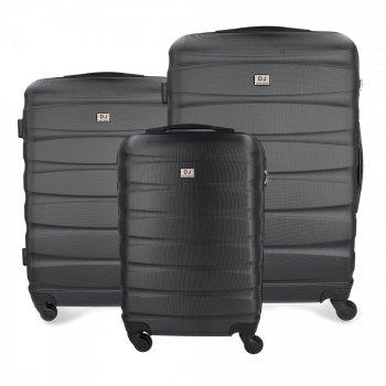 Kufry renomované firmy David Jones Sada 3v1 černé
