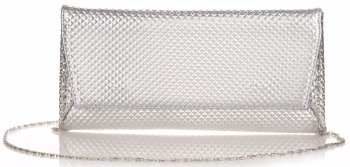 Elegantní Dámská kabelka psaníčka Belluci stříbrná