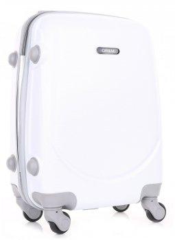 Palubní kufřík Ultra Light Or&Mi 4 kolečka Tmavě Bílá