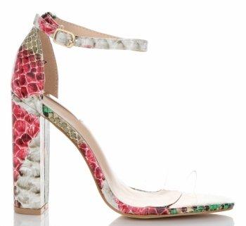 Modní Dámské Sandály na podpatku Bellucci Růžové