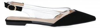 Černé elegantní dámské sandály Bellucci