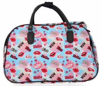 Velká Cestovní Taška Kufřík Or&Mi Kiss Multicolor - Modrá