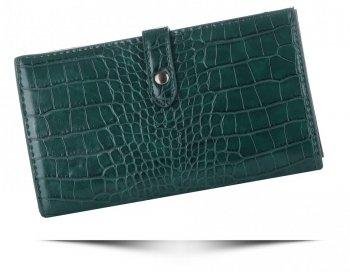 Dámská Peněženka XL Diana&Co Firenze motiv aligátorů Lahvově zelená
