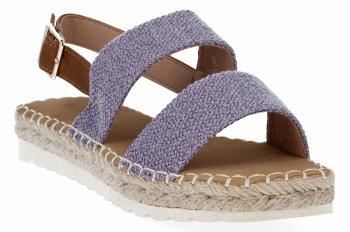 Fialové dámské sandály espadrilky Bellucci