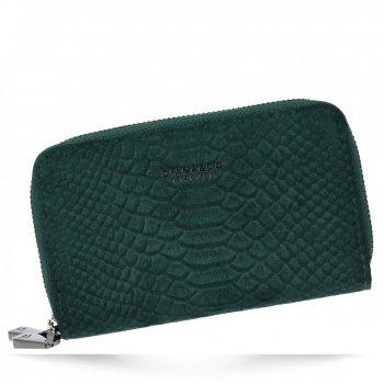 Elegantní Dámská Peněženka s motivem aligátora Diana&Co Lahvově zelená