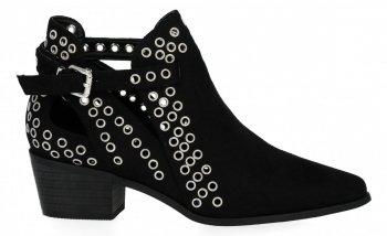 Černé kotníkové boty na podpatku značky Bellucci