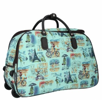 Cestovní taška na kolečkách s výsuvnou rukojetí Or&Mi Parisian Style Multicolor Mátová