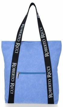 Módní Dámské Kabelky Shopper značky Roberto Ricci Modrá