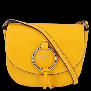 Elegantní Kožená Kabelka Listonoška Vittoria Gotti Made in Italy Žlutá