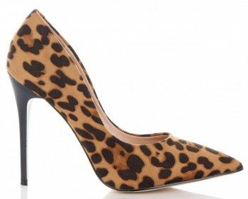Modní Dámské Lodičky Bellucci leopardův motiv Hnědé