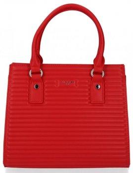 Elegantní Dámská Kabelka Módní  Kufřík David Jones Červená