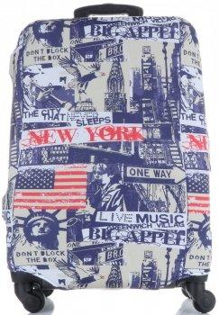 Obal na kufr Snowball L size New York vícebarevný modrá