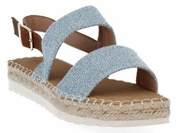 Modré dámské sandály espadrilky Bellucci