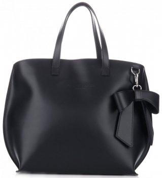 Originální kožené kabelky VITTORIA GOTTI Černá