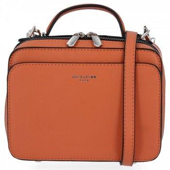 Elegantní Dámská Kabelka Malá Listonoška David Jones Oranžová