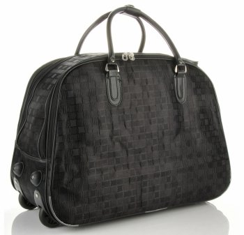 Cestovní taška na kolečkách s výsuvnou rukojetí Or&Mi Šachovnice Černá