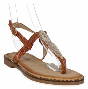 Camelové stylové dámské sandály Sergio Todzi